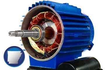 an electric motor - with Arkansas icon