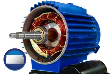 an electric motor - with Kansas icon
