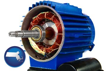 an electric motor - with Massachusetts icon