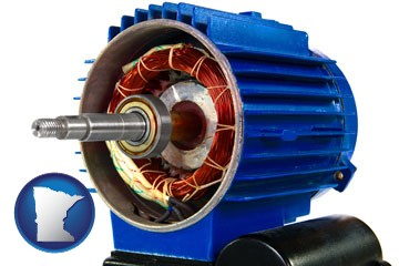 an electric motor - with Minnesota icon