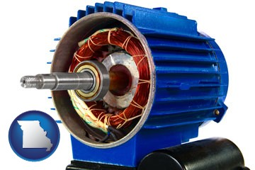 an electric motor - with Missouri icon