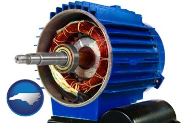 an electric motor - with North Carolina icon