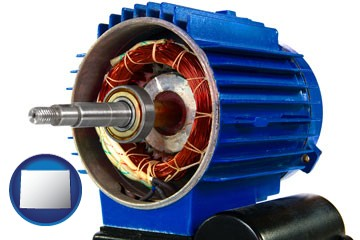 an electric motor - with Wyoming icon